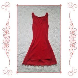 La Belle Red Sleeveless Dress